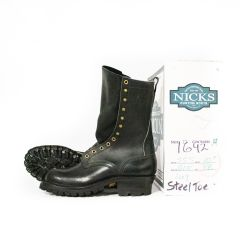 "FS Builder Pro (Steel Toe) 55 Last Black 10"" L 8B R 8B NEW OLD STOCK (1642)"
