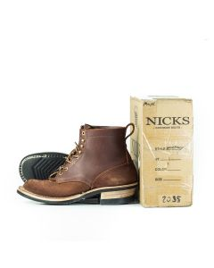 """FS Ranger MTO 67 6"""" Chocolate Smooth over Roughout R-10.5FF L-10.5FF """"Custom Uppers"""" Worn for a Month 2035"""