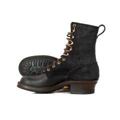 Hooligan Moto Boot Black 55 Classic Arch Standard Toe Mini-Lug