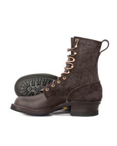 Hooligan Moto Boot Walnut 55 Classic Arch Standard Toe - STOCK - FREE SHIPPING