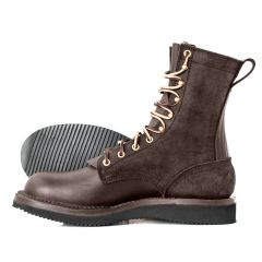 Hooligan Moto Boot Walnut Wedge Moderate Arch - STOCK - FREE SHIPPING