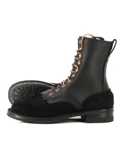 Ranger Black Smooth over Roughout FT Moderate Arch 10.5D - Ready to Ship - Free Shipping!