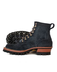 Urban Logger® Black Roughout 55 Classic Arch Standard Toe 6.0D - Ready to Ship - Free Shipping!