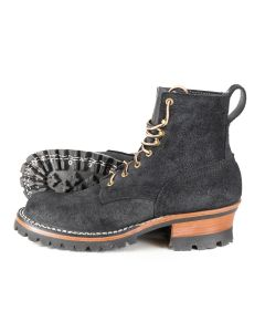 Urban Logger® Black Roughout 55 Classic Arch Standard Toe 8.5D - Ready to Ship - Free Shipping!