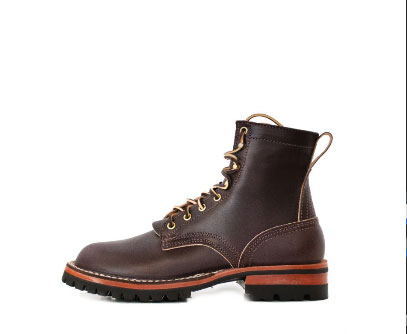 work boot with english bridle leather