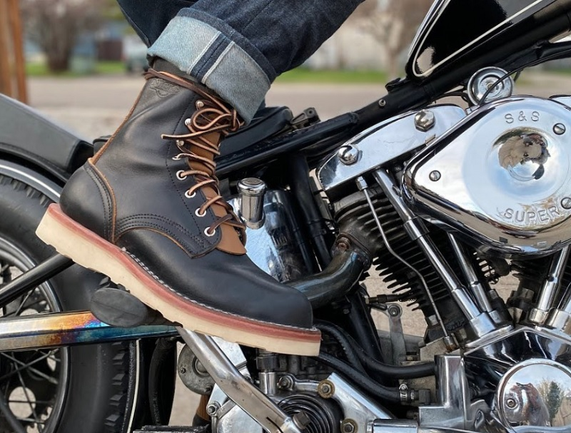 high end leather motorcycle boots