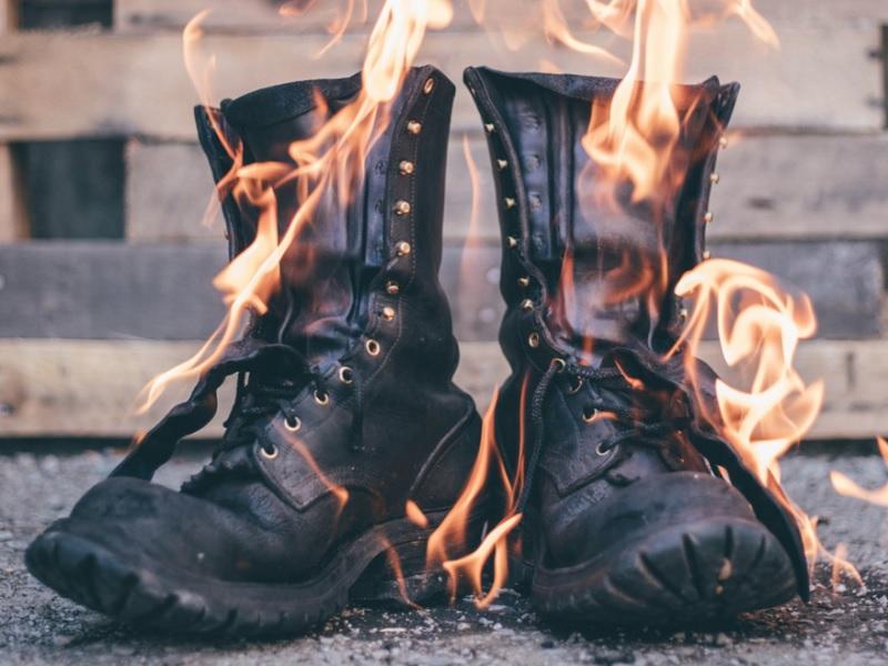 breaking in firefighter boots