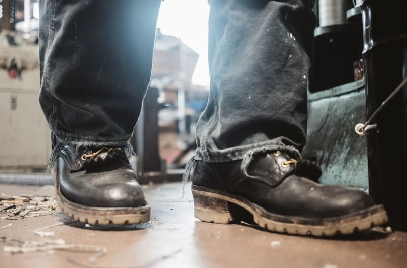 logger style boots for hard floors