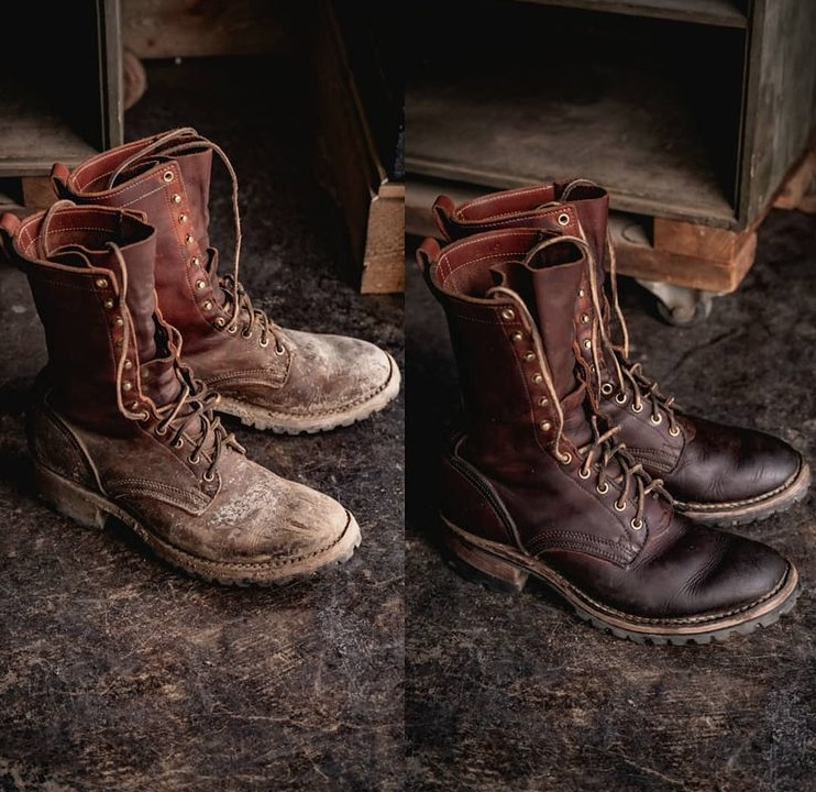 rebuilding leather boots