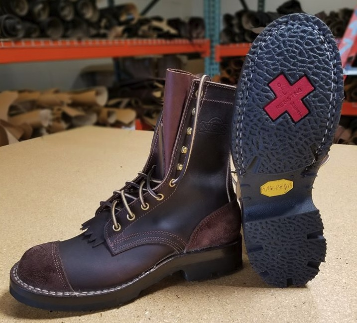 modern leather firefighter boots