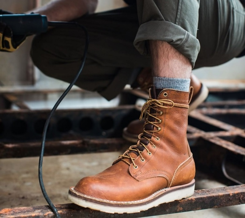 wedge sole boots made in usa