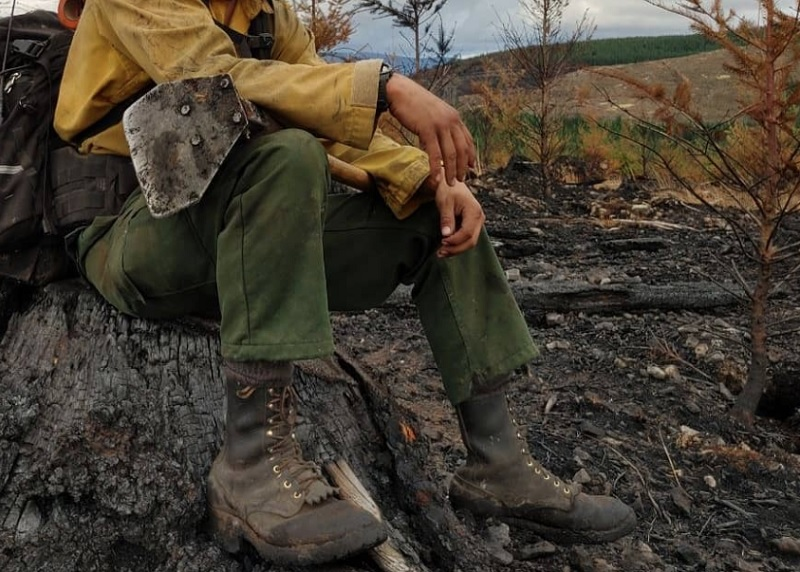 construction of wildland firefighter boots
